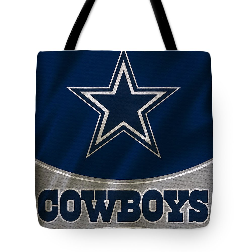 Cowboys Tote Bag featuring the photograph Dallas Cowboys Uniform by Joe Hamilton