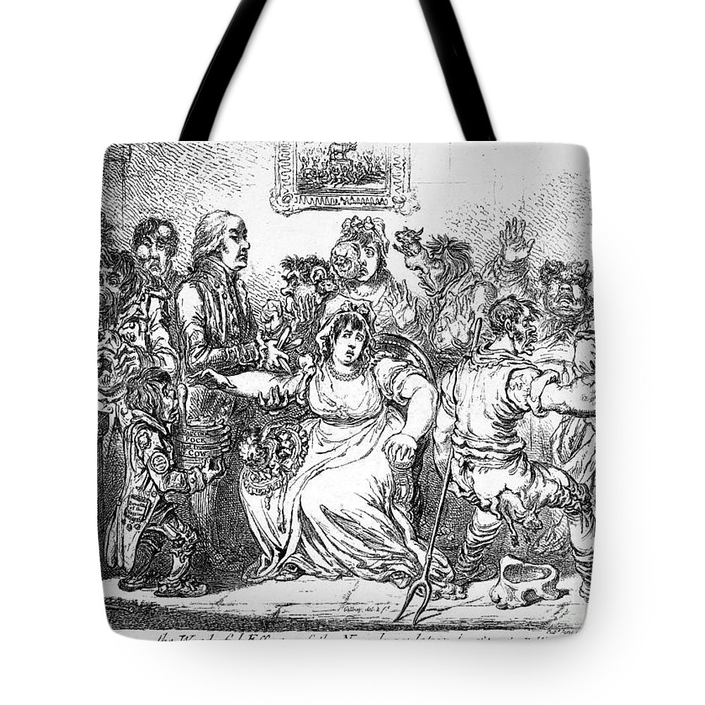 1802 Tote Bag featuring the photograph Edward Jenner (1749-1823) by Granger