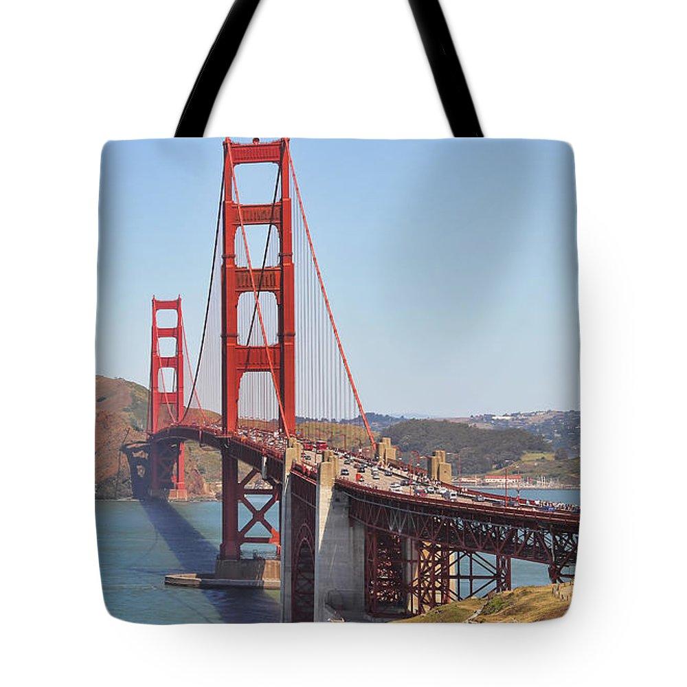 Golden Gate Bridge Tote Bag featuring the photograph Golden Gate Bridge by Jack Schultz