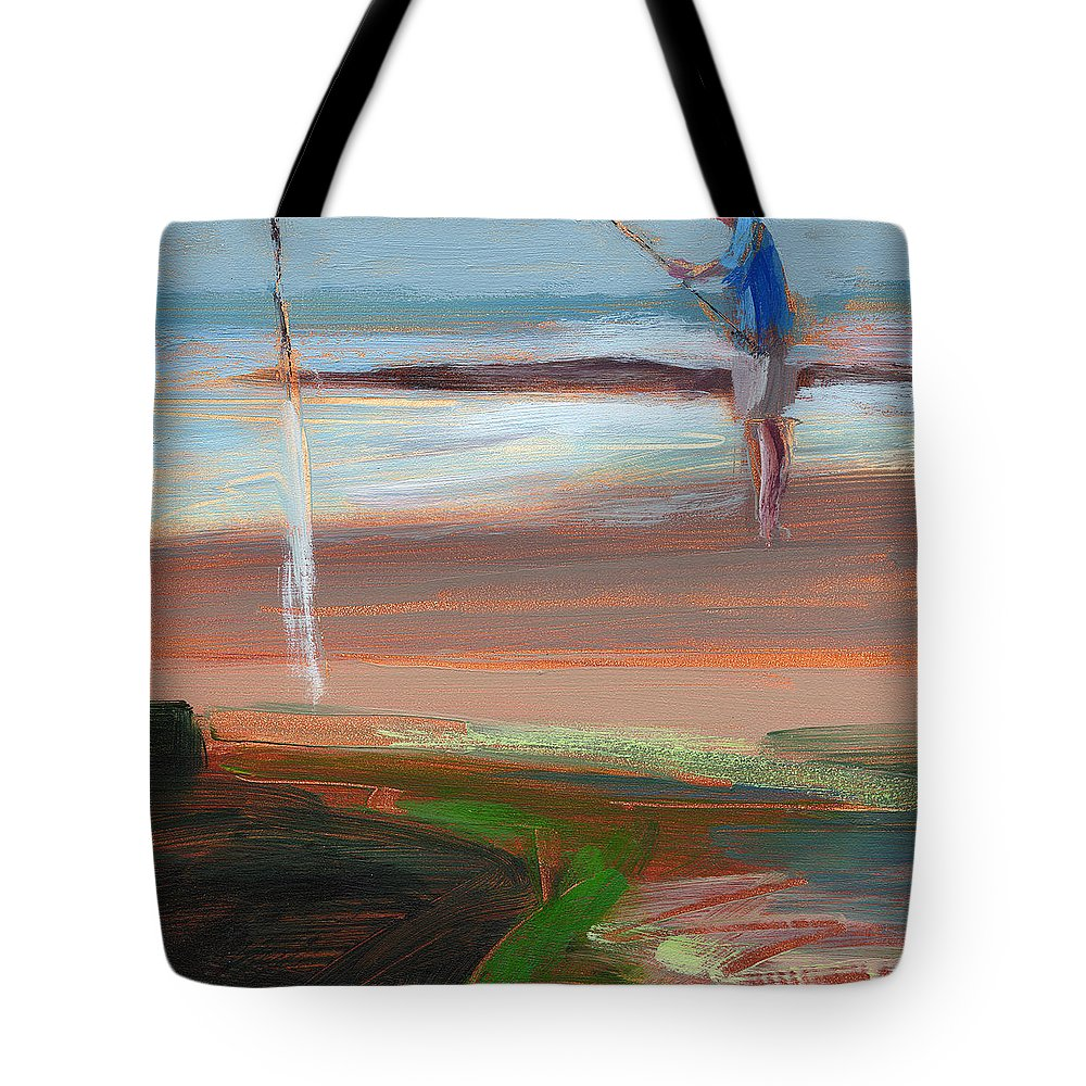 Beach Tote Bag featuring the painting Rcnpaintings.com by Chris N Rohrbach