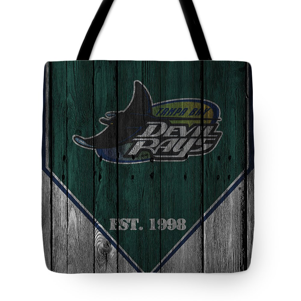 Rays Tote Bag featuring the photograph Tampa Bay Rays by Joe Hamilton