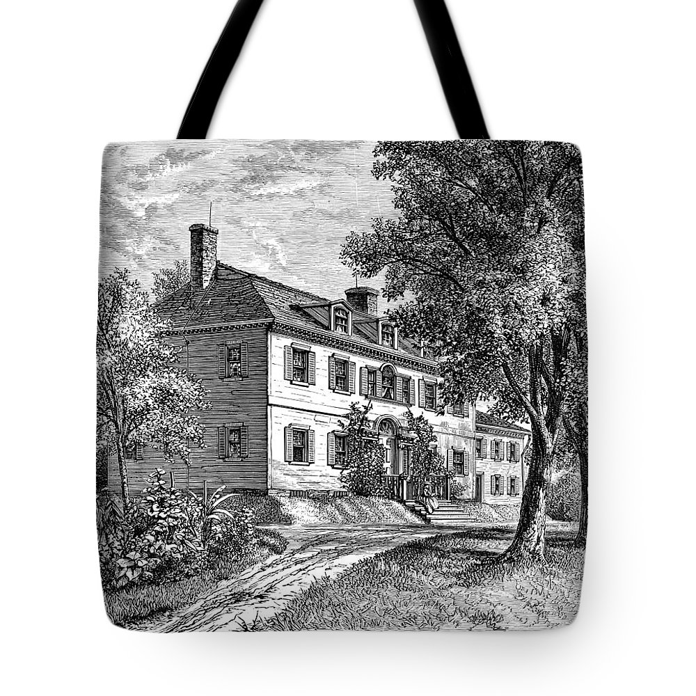 18th Century Tote Bag featuring the photograph Washington: Headquarters by Granger