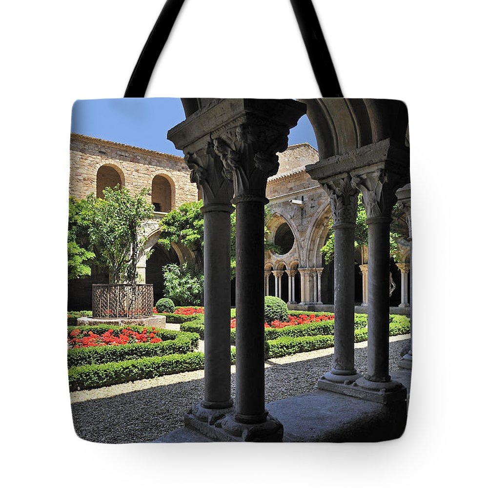 Fontfroide Tote Bag featuring the photograph 120520p105 by Arterra Picture Library