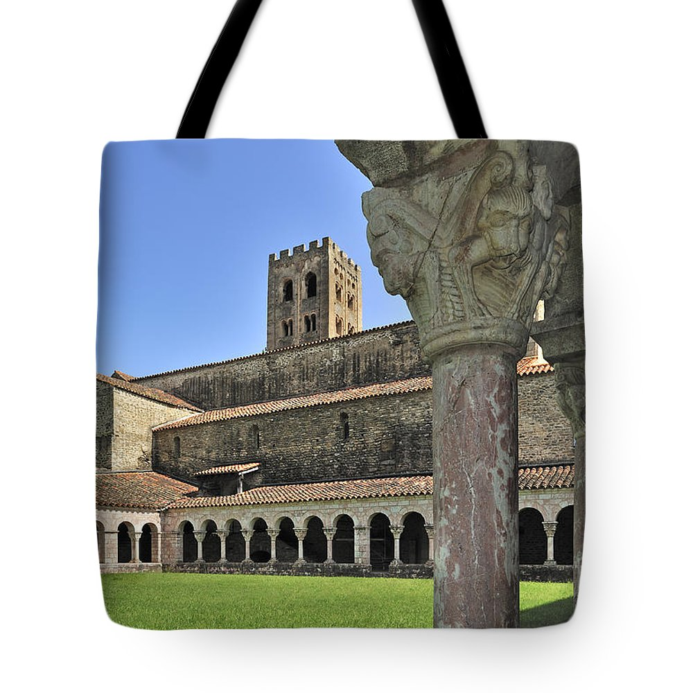 Saint-michel-de-cuxa Tote Bag featuring the photograph 120520p131 by Arterra Picture Library