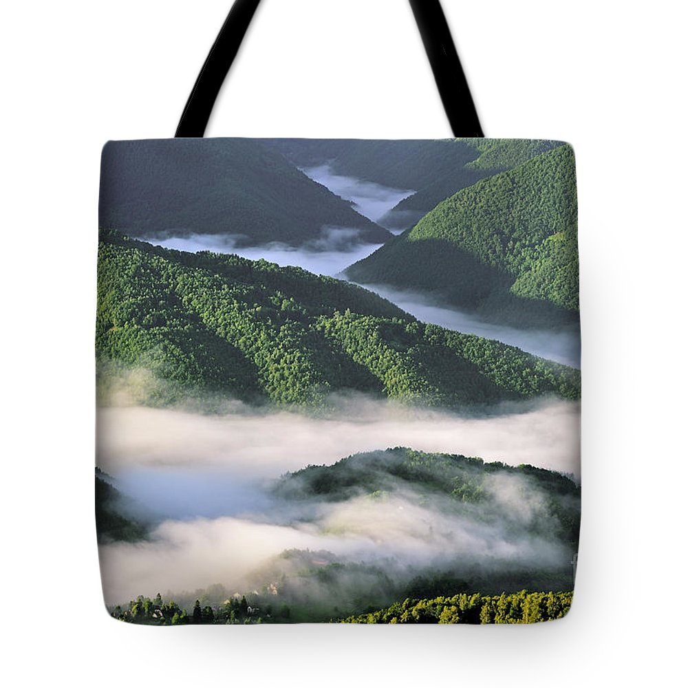 Col De Portel Tote Bag featuring the photograph 120520p233 by Arterra Picture Library