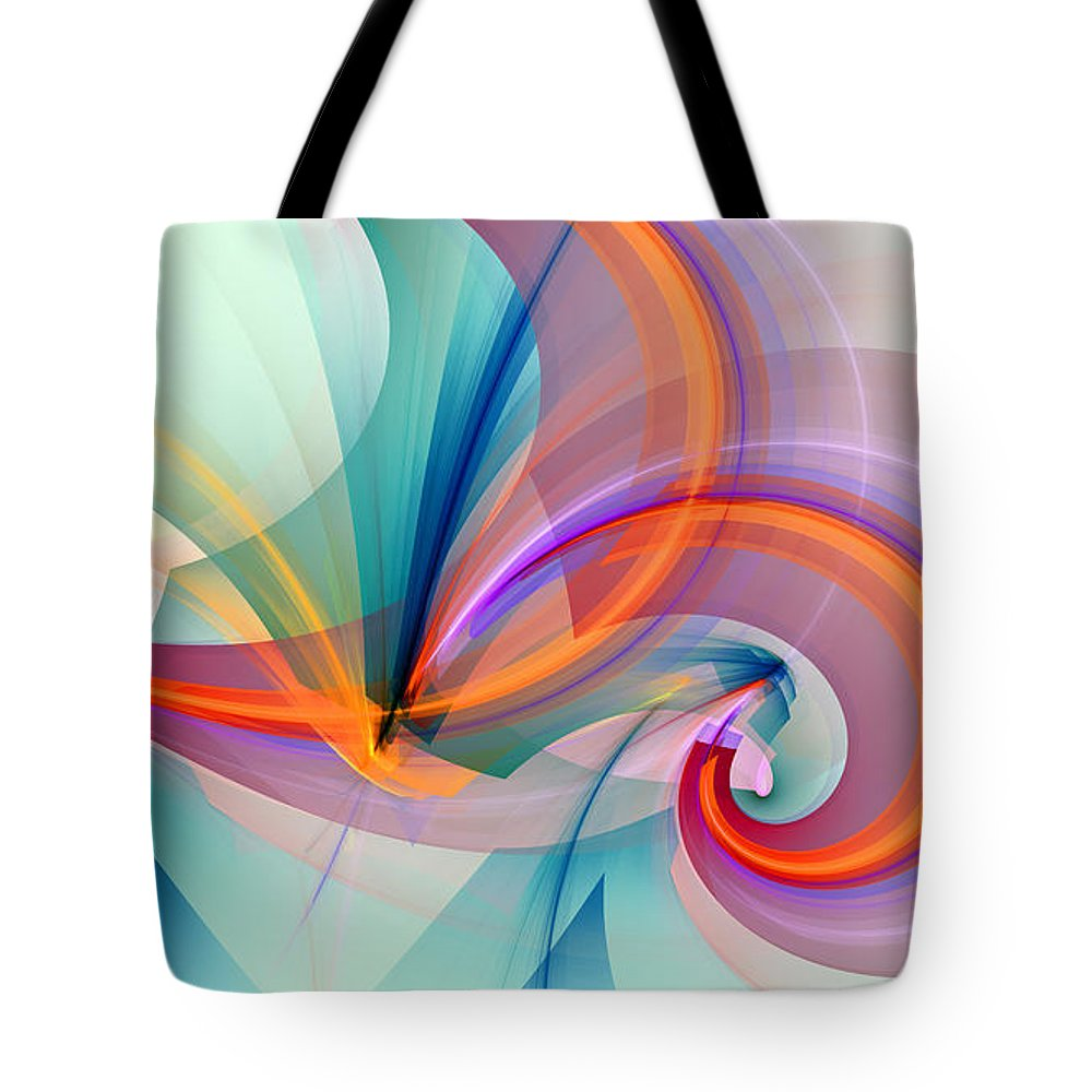 Flame Fractal Tote Bags