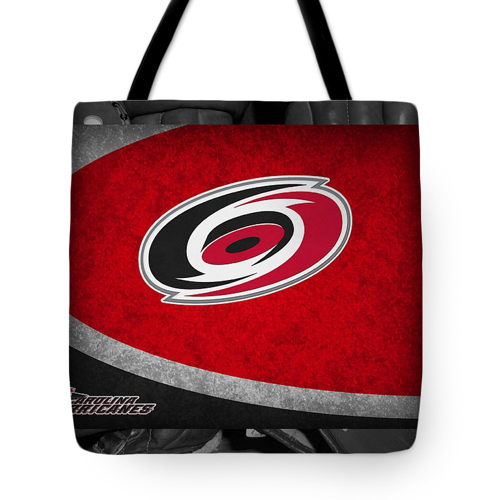 Hurricanes Tote Bag featuring the photograph Carolina Hurricanes by Joe Hamilton