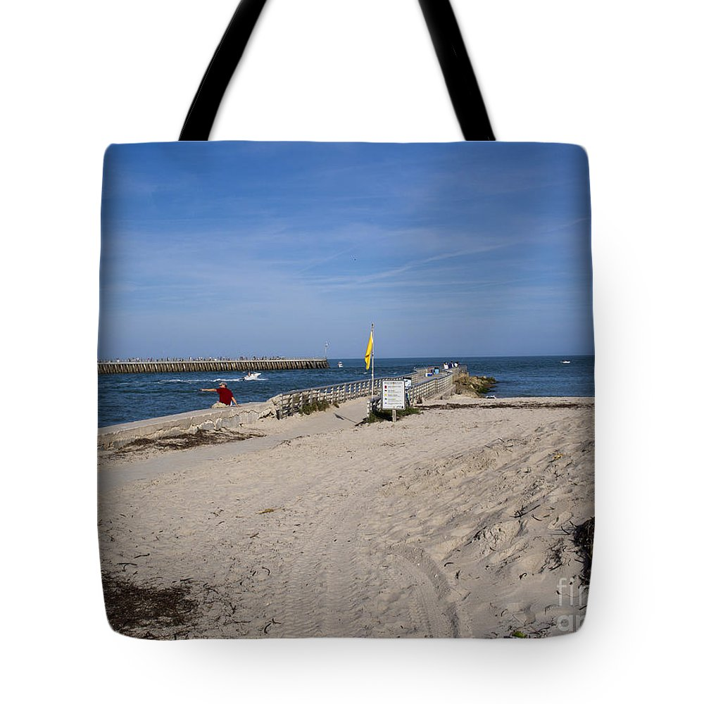 Florida Tote Bag featuring the photograph Fishing At Sebastian Inlet In Florida by Allan Hughes