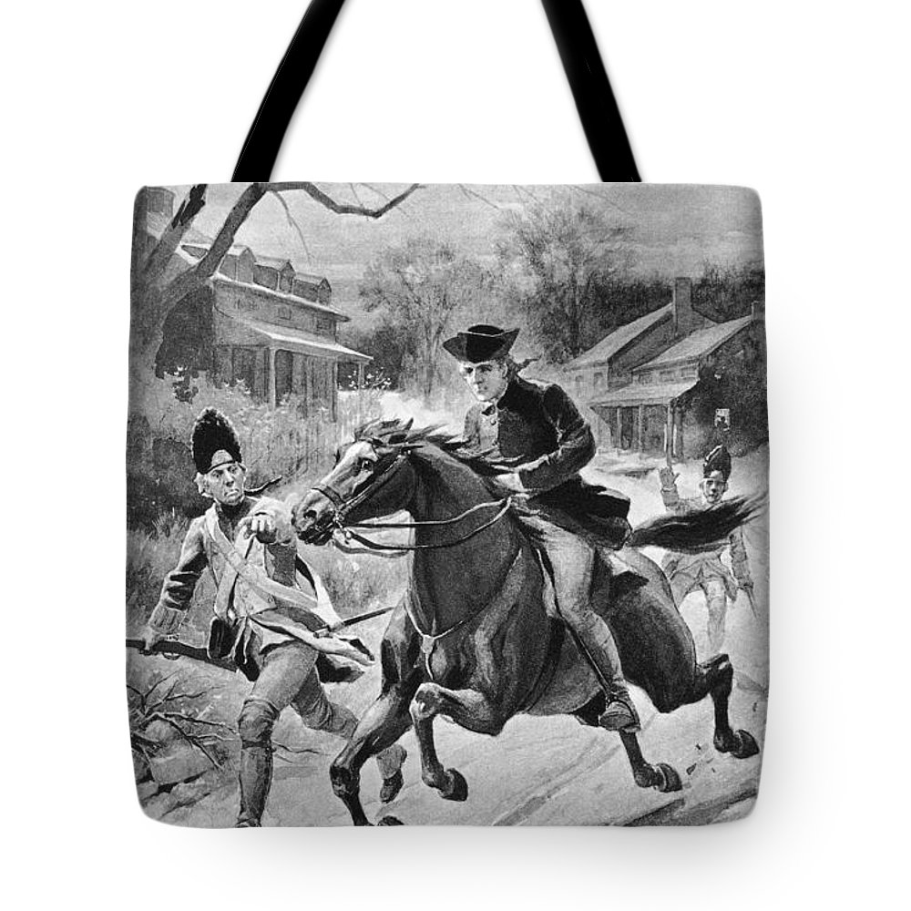 1775 Tote Bag featuring the photograph Paul Reveres Ride by Granger