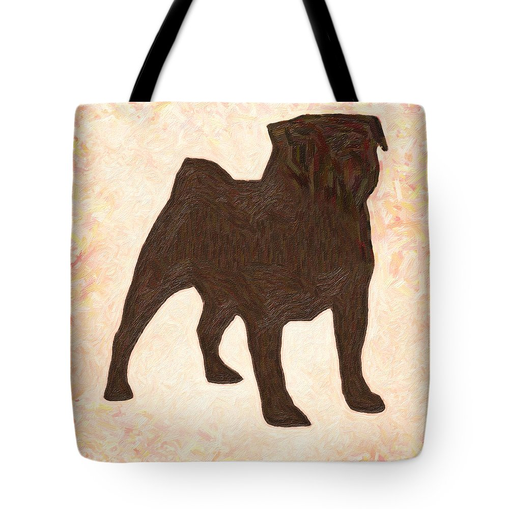 Pug The Dog #art Poster Tote Bag featuring the painting Pug The Dog by MotionAge Designs