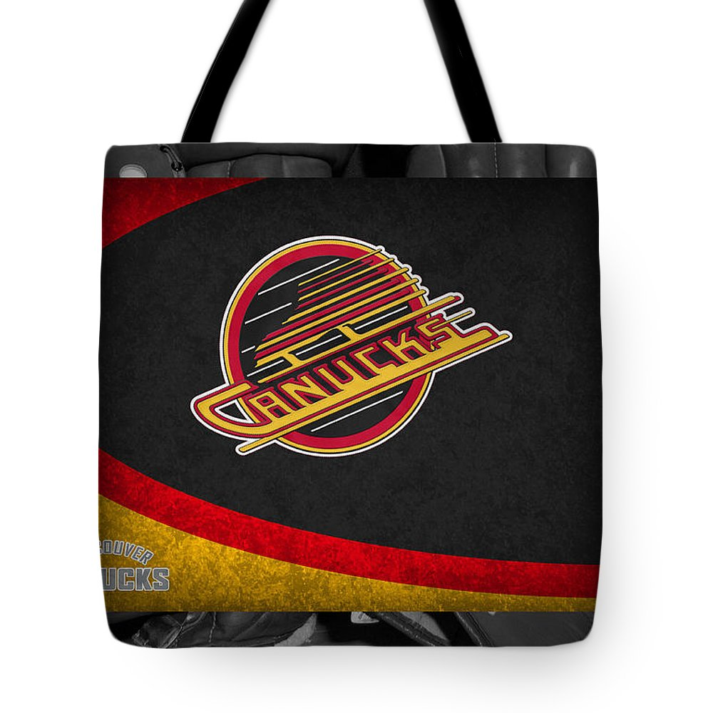 Canucks Tote Bag featuring the photograph Vancouver Canucks by Joe Hamilton