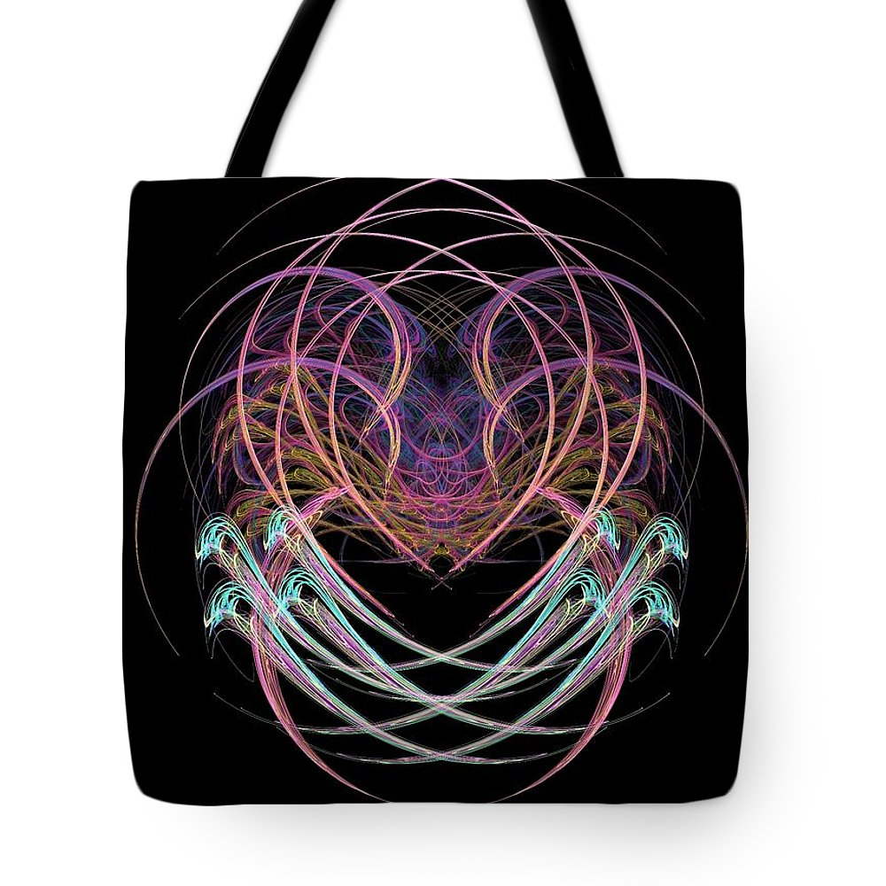 Abstract Tote Bag featuring the painting What Do You See by Bruce Nutting