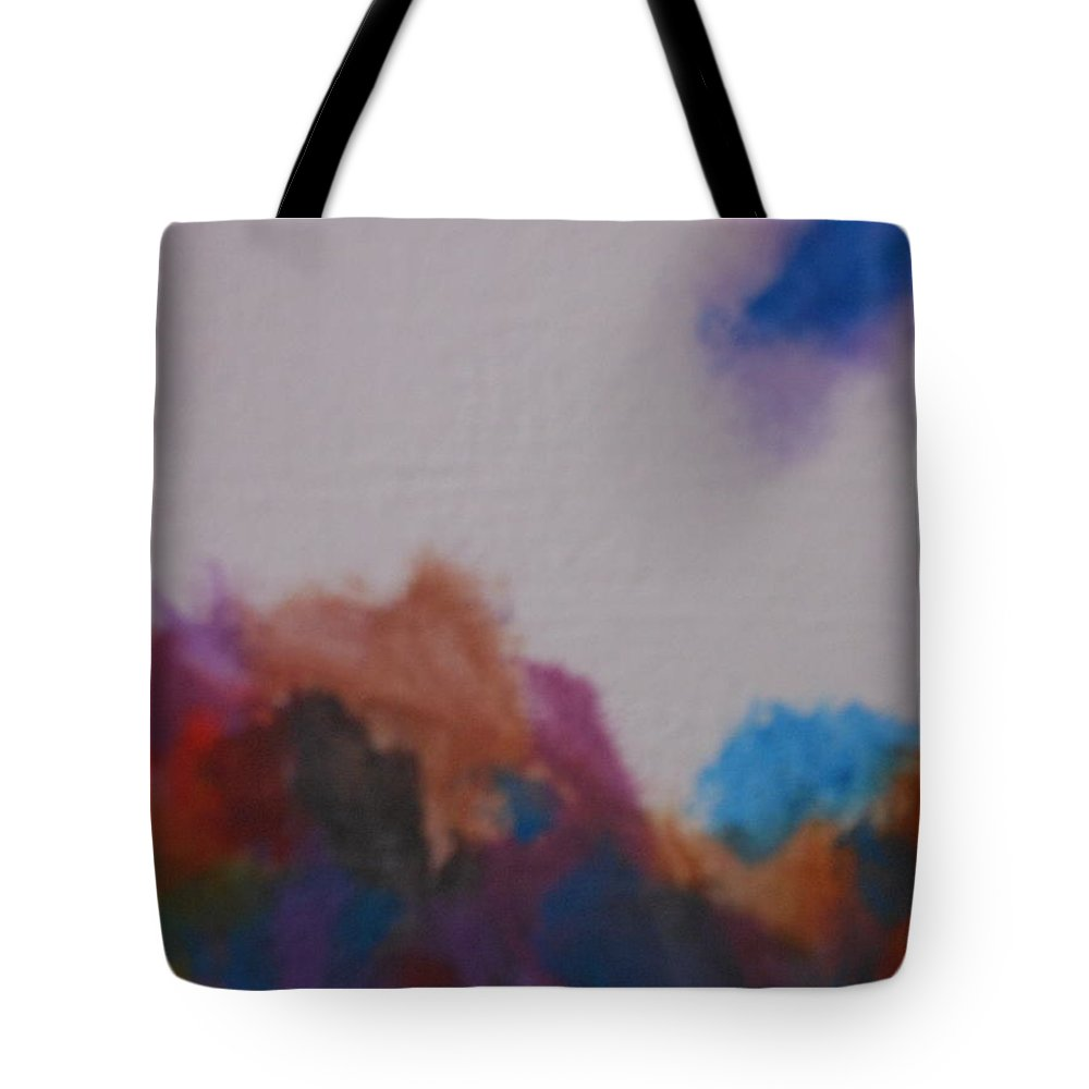 Water Tote Bag featuring the painting Abstract by Lord Frederick Lyle Morris - Disabled Veteran
