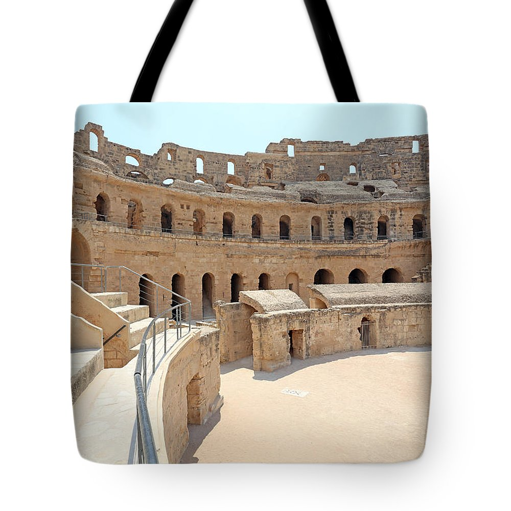Colosseum Tote Bag featuring the photograph Amphitheatre by Paul Fell
