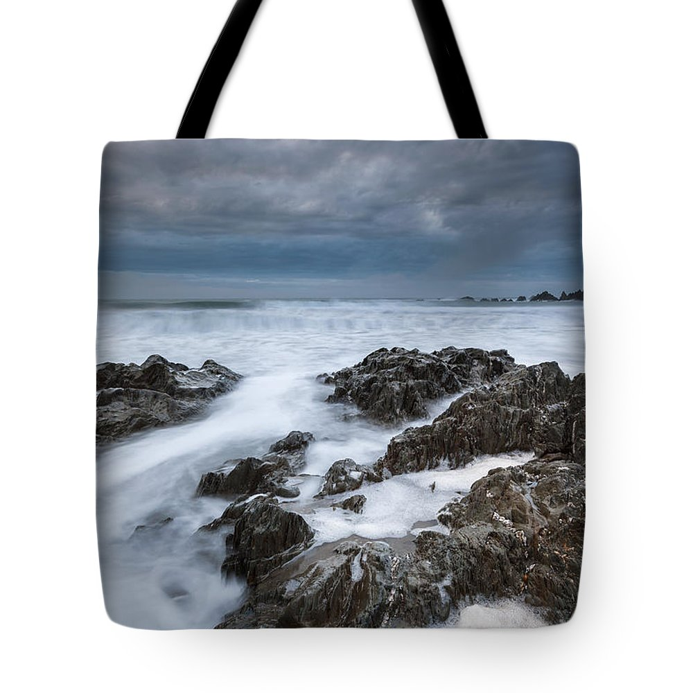 Ringmore Tote Bag featuring the photograph Challaborough by Sebastian Wasek