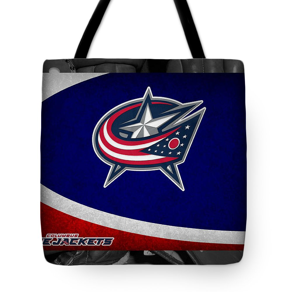 Blue Jackets Tote Bag featuring the photograph Columbus Blue Jackets by Joe Hamilton