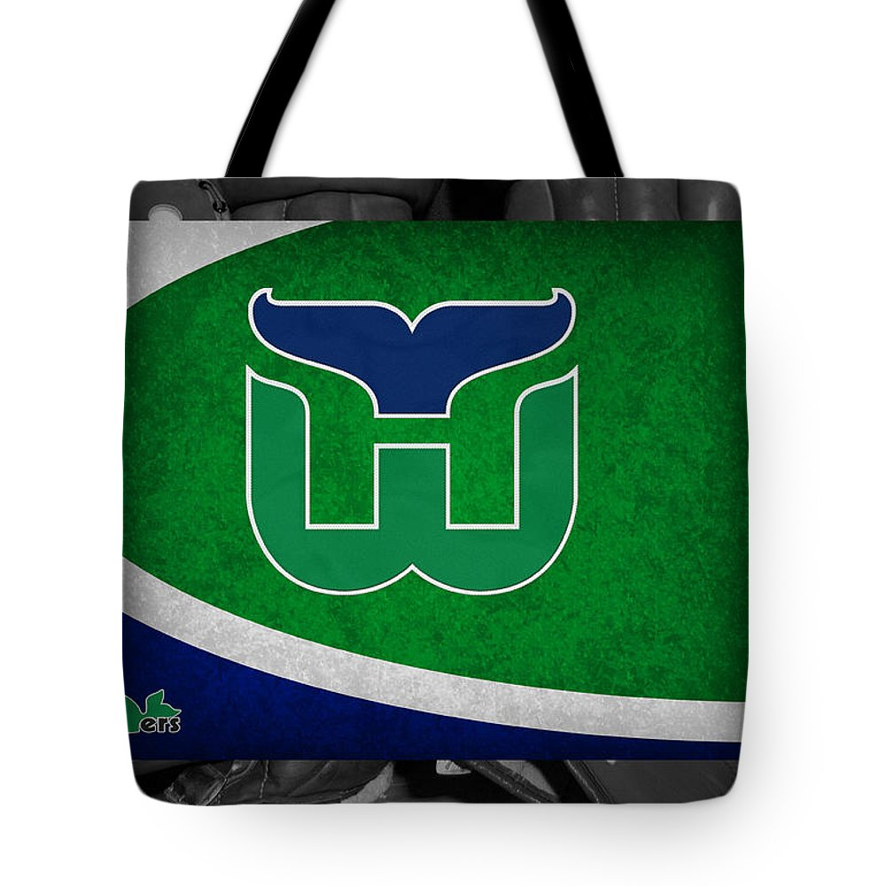Whalers Tote Bag featuring the photograph Hartford Whalers by Joe Hamilton