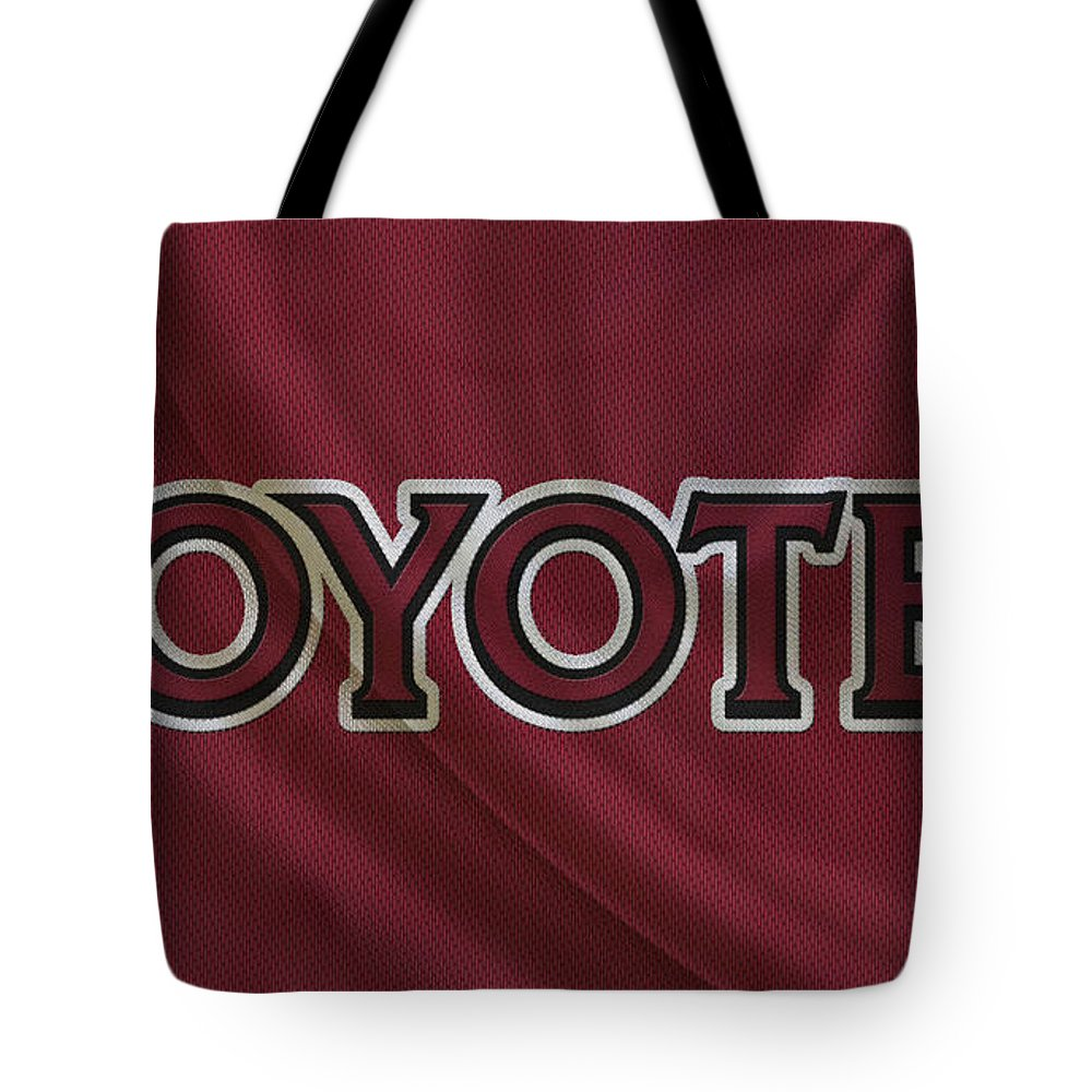 Coyotes Tote Bag featuring the photograph Phoenix Coyotes by Joe Hamilton