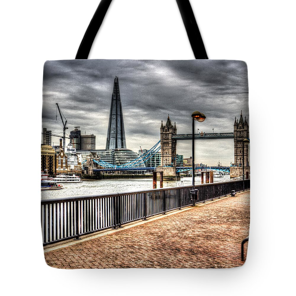 County Hall Tote Bag featuring the photograph River Thames View by David Pyatt