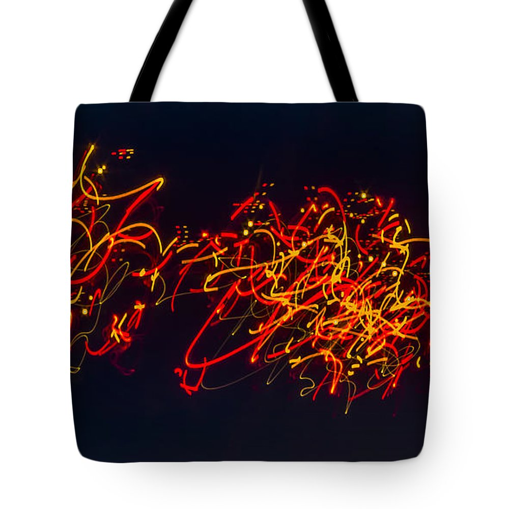 Night Tote Bag featuring the photograph Plowing Snow II by Albert Seger