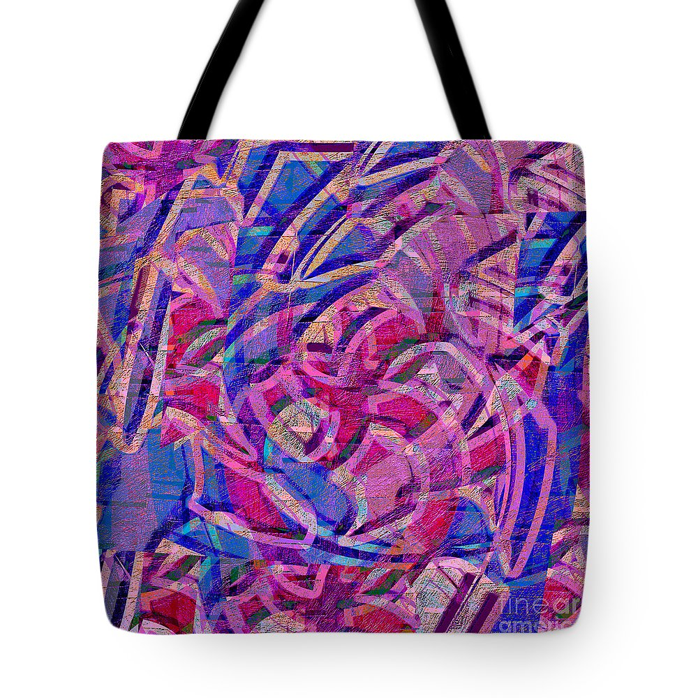 Abstract Tote Bag featuring the digital art 1412 Abstract Thought by Chowdary V Arikatla