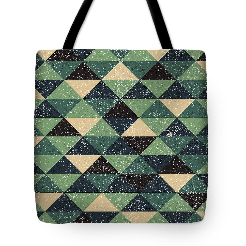 Pixel Tote Bag featuring the digital art Pixel Art by Mike Taylor