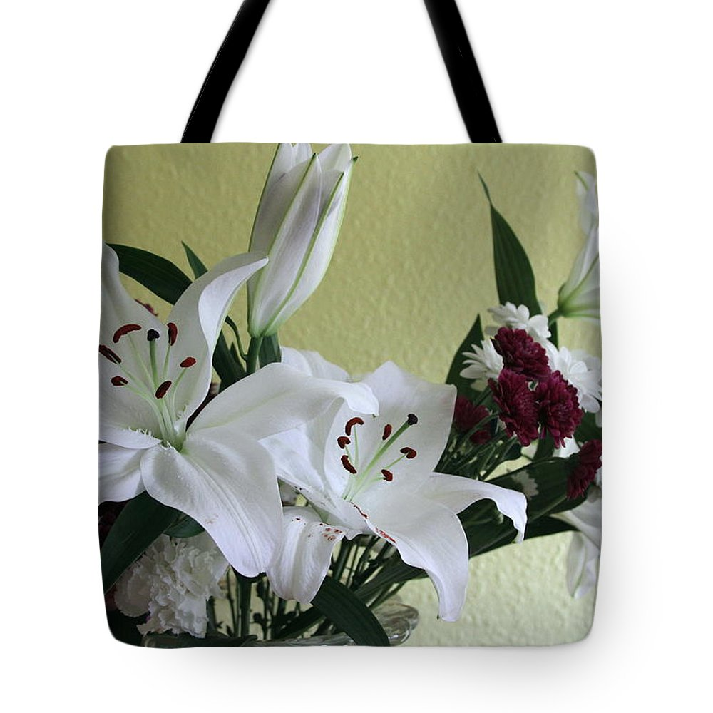 Fresh Tote Bag featuring the photograph Fresh Cut Flowers by Kevin F Cook