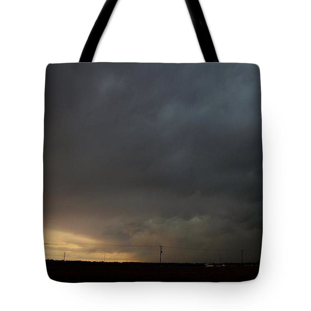 Stormscape Tote Bag featuring the photograph Let The Storm Season Begin by NebraskaSC