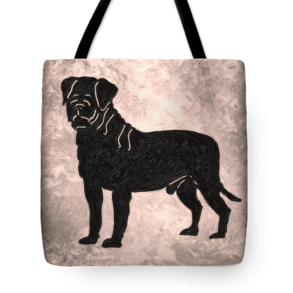 Pug The Dog Tote Bag featuring the painting Pug The Dog by MotionAge Designs
