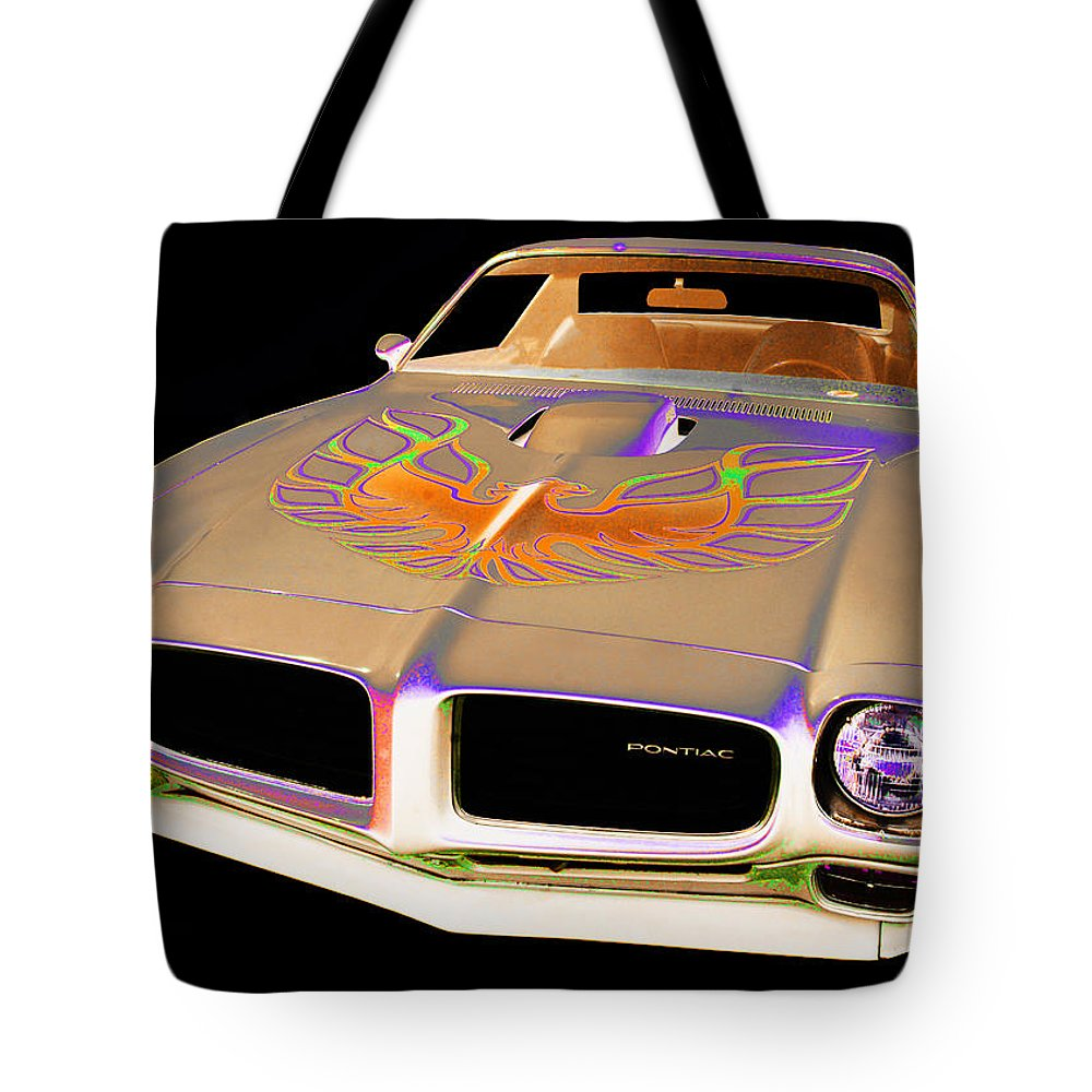 1973 Pontiac Trans Am Tote Bag featuring the photograph Pontiac by Allan Price
