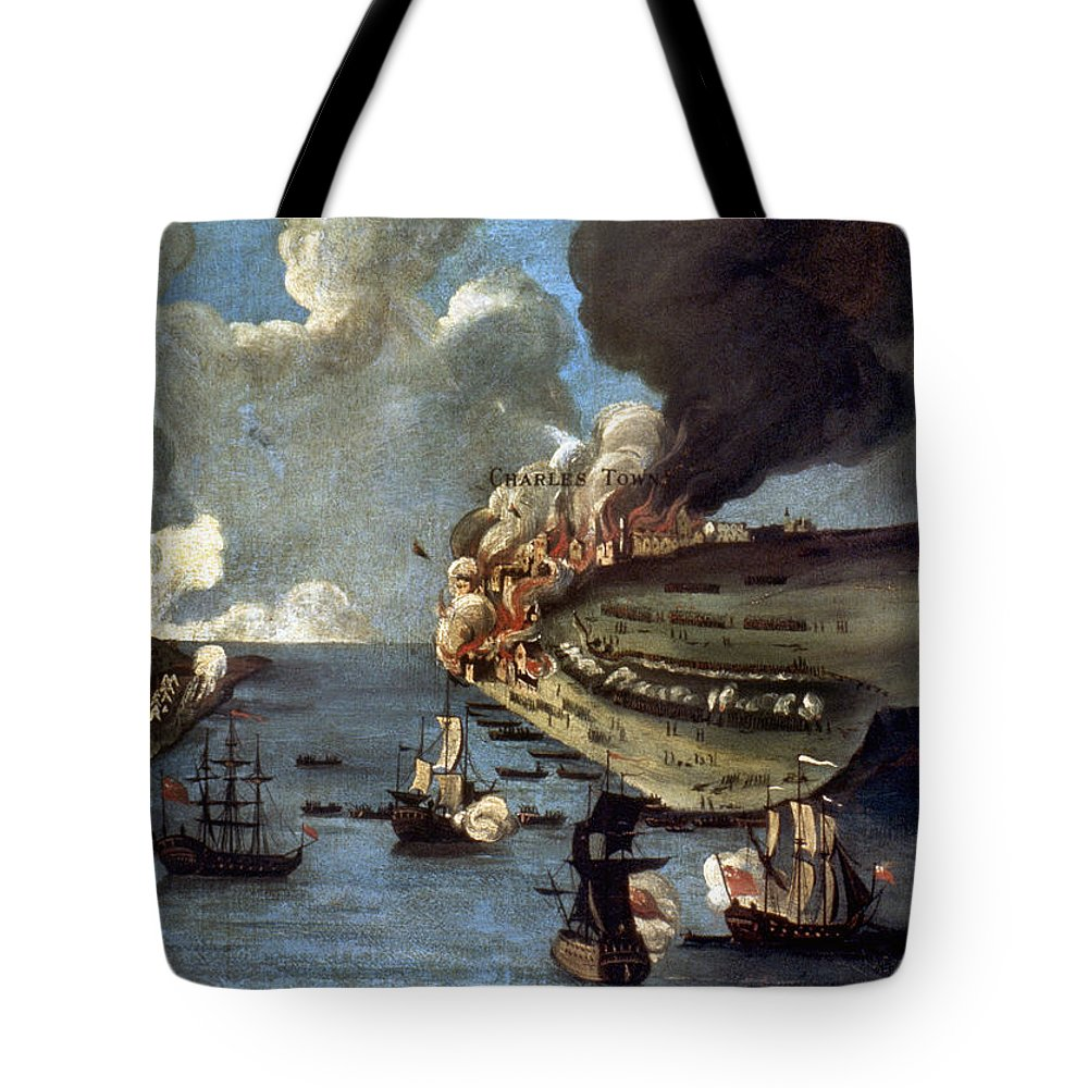 1775 Tote Bag featuring the photograph Battle Of Bunker Hill, 1775 by Granger