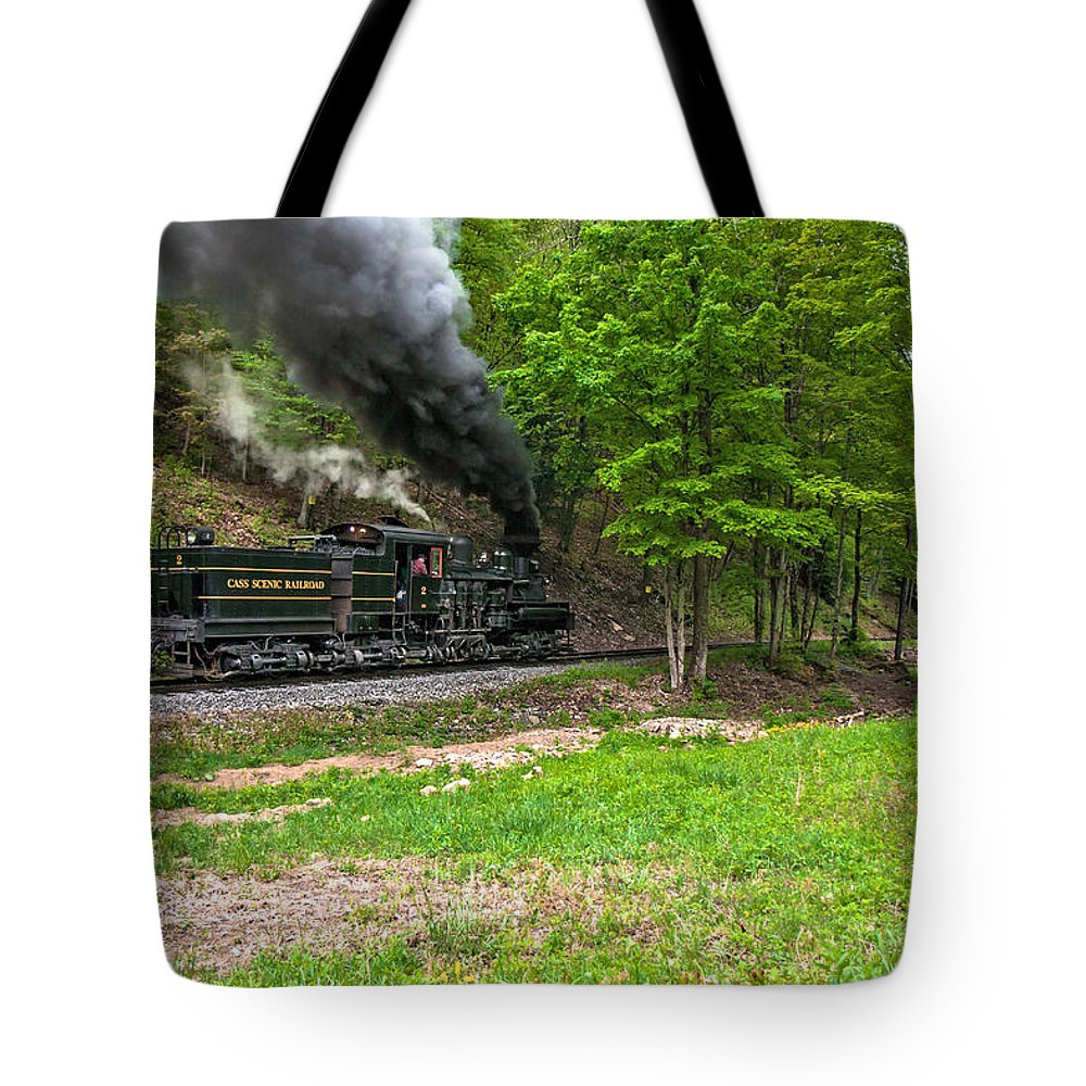 Logs Tote Bag featuring the photograph Cass Scenic Railroad by Mary Almond