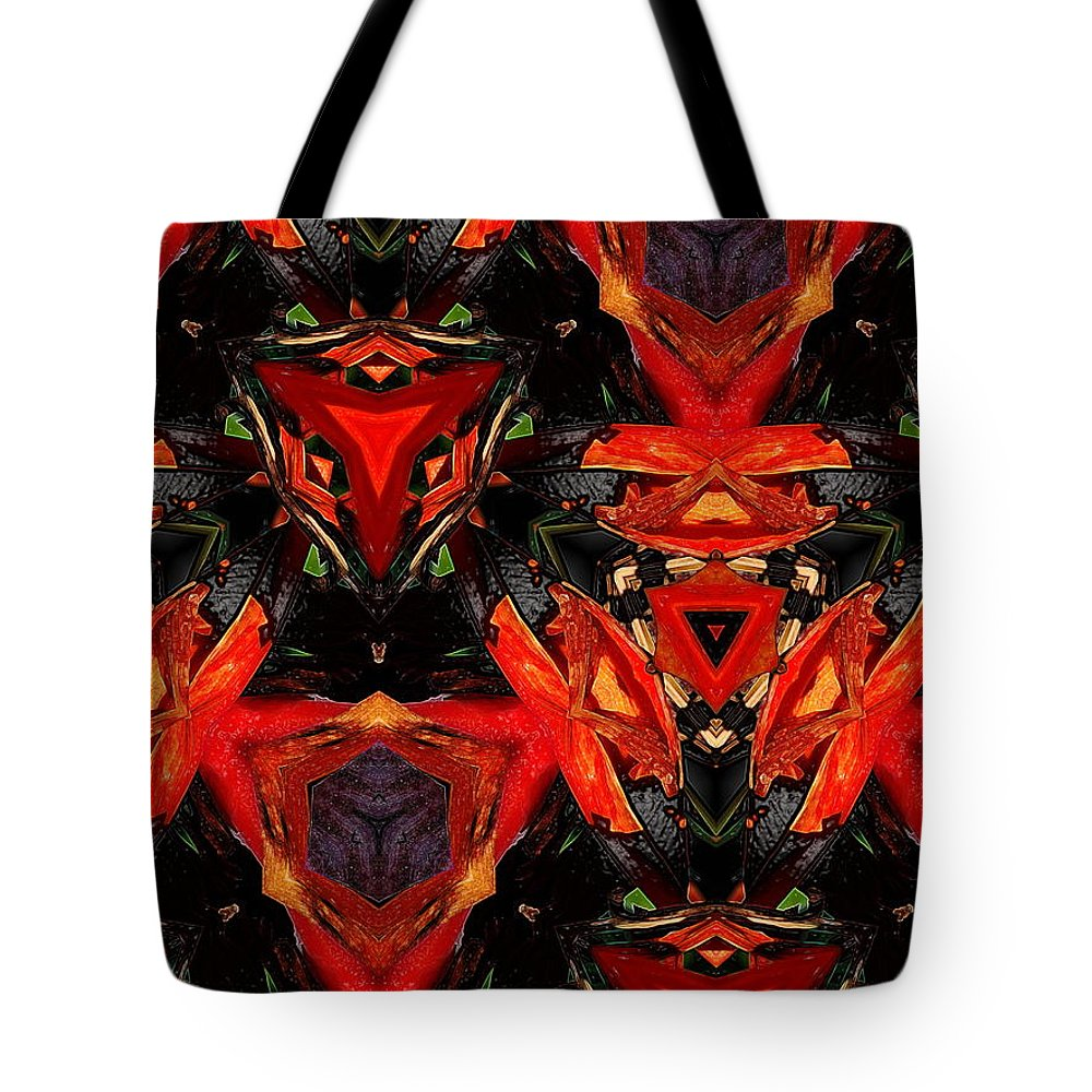 Abstract Tote Bag featuring the digital art 1752 by John Holfinger