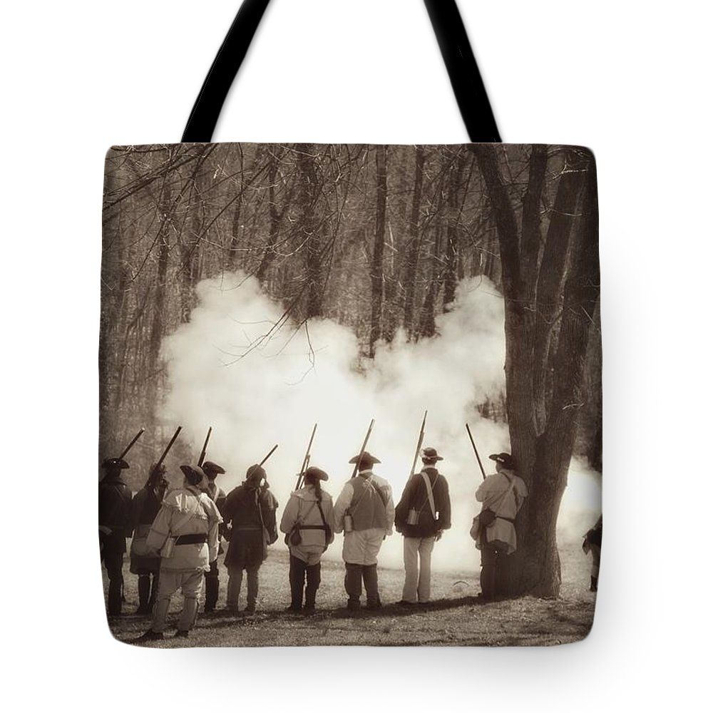 Revolutionary War Tote Bag featuring the photograph 1781 Guilford Court House Battle by Benanne Stiens