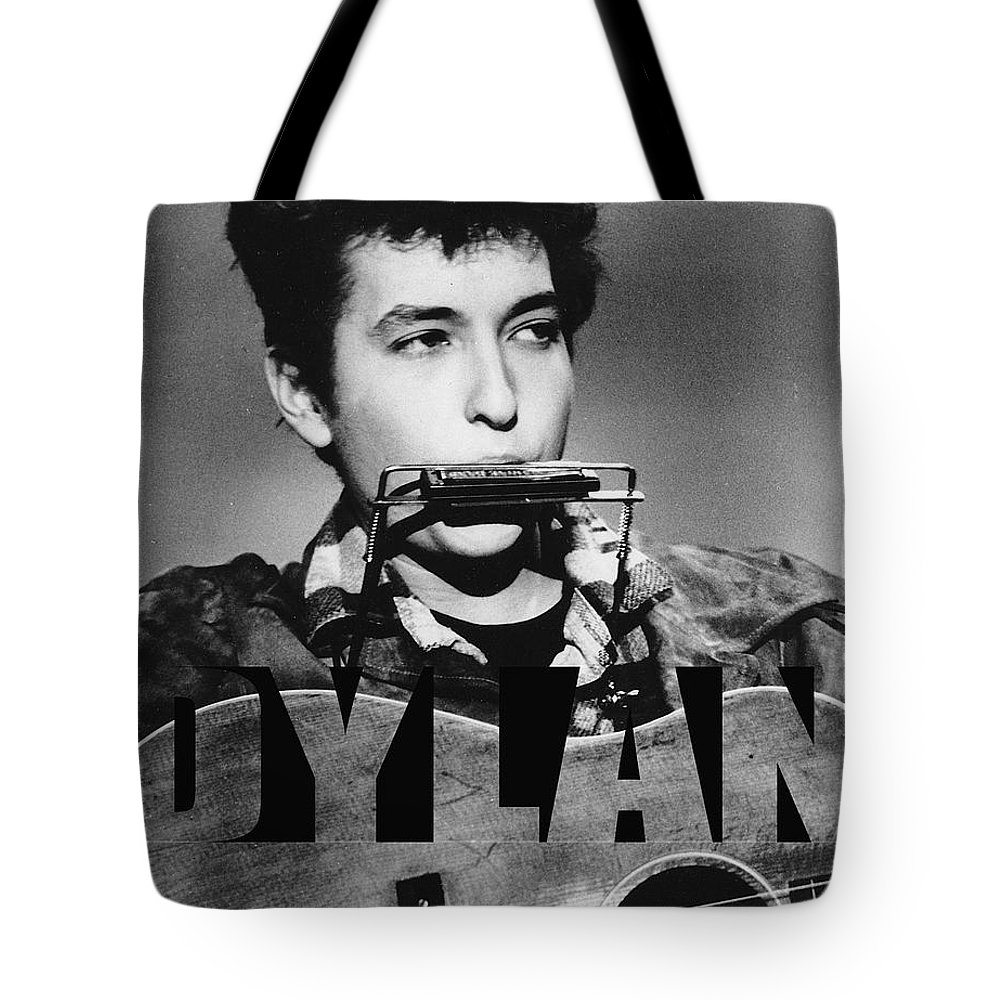 Bob Dylan Art Tote Bag featuring the mixed media Bob Dylan by Marvin Blaine