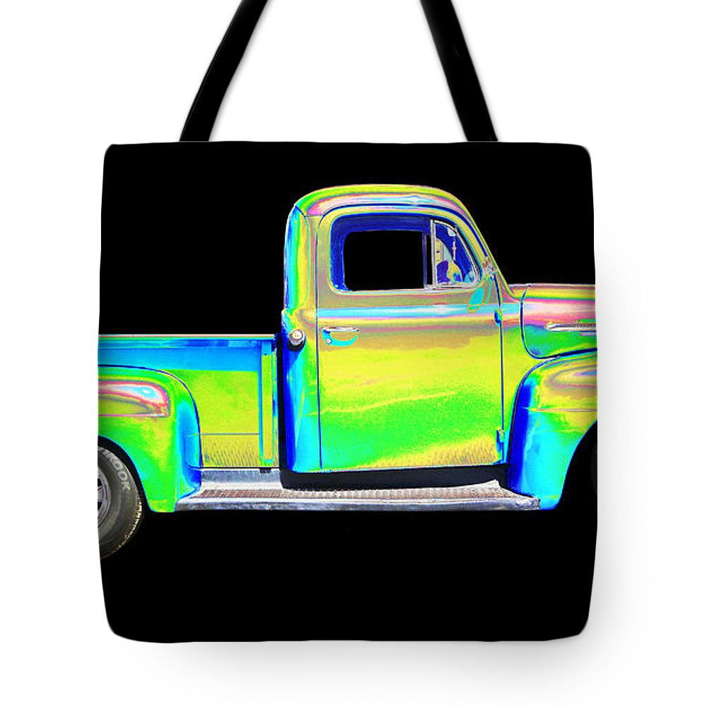 1958 Ford Pick Up Tote Bag featuring the photograph Ford by Allan Price