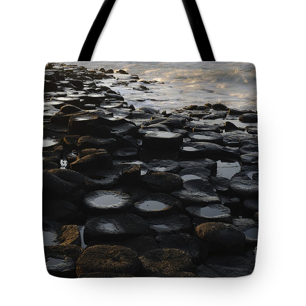 Landscape Tote Bag featuring the photograph The Giants Causeway by John Shaw