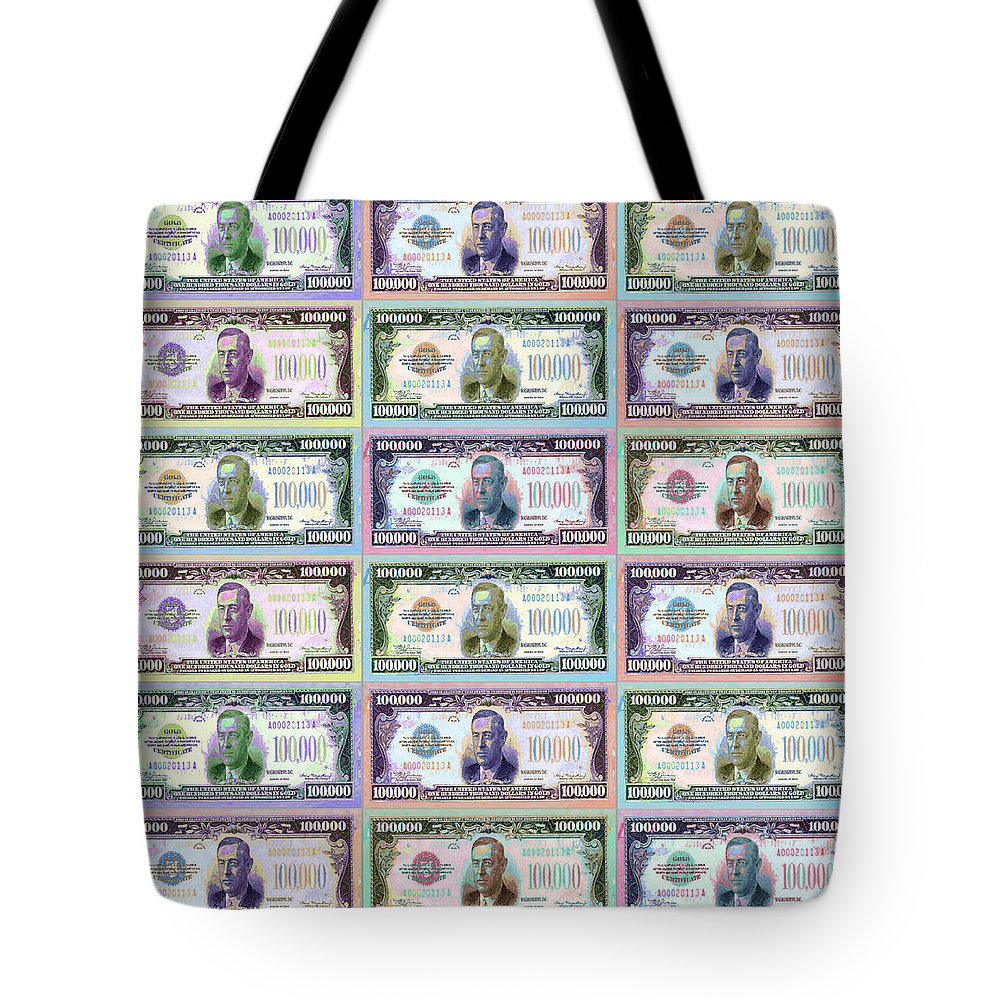 $100 Tote Bag featuring the painting 180 Million Dollars by Tony Rubino