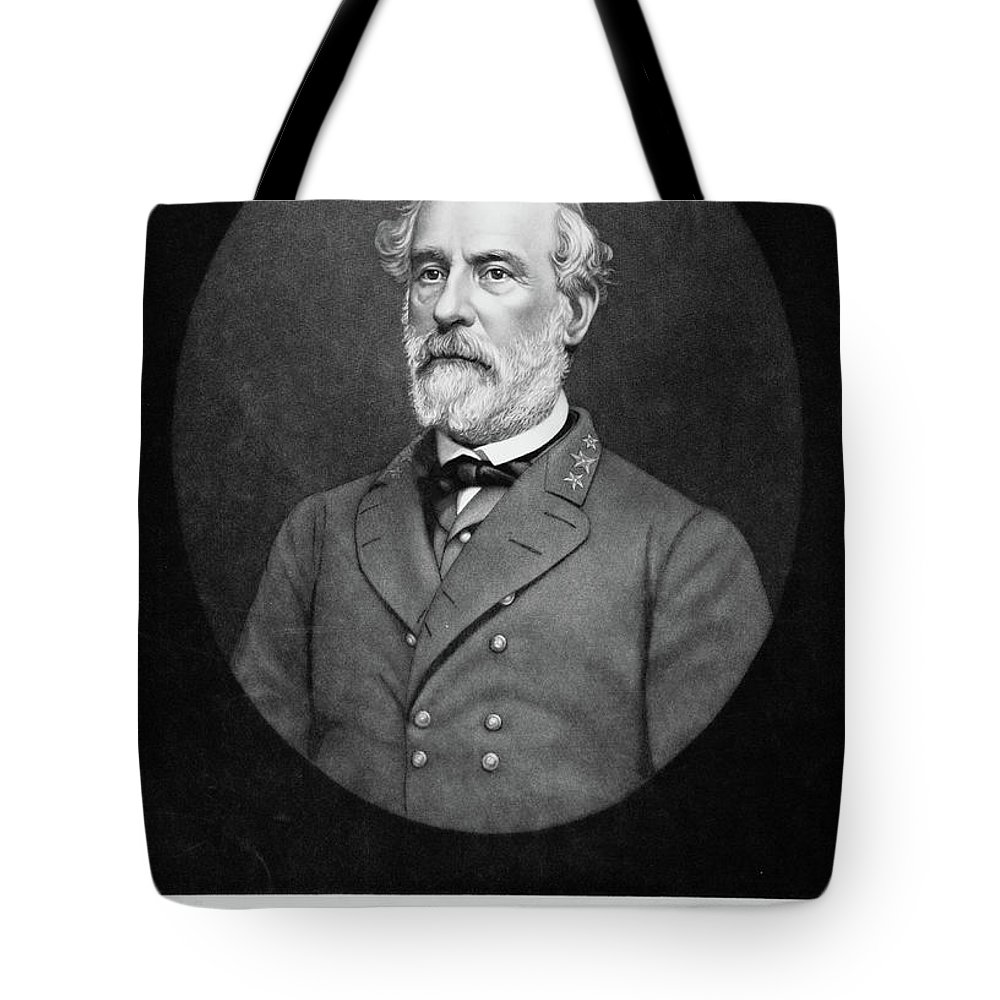 Vertical Tote Bag featuring the painting 1800s 1860s Portrait Of Robert E Lee by Vintage Images