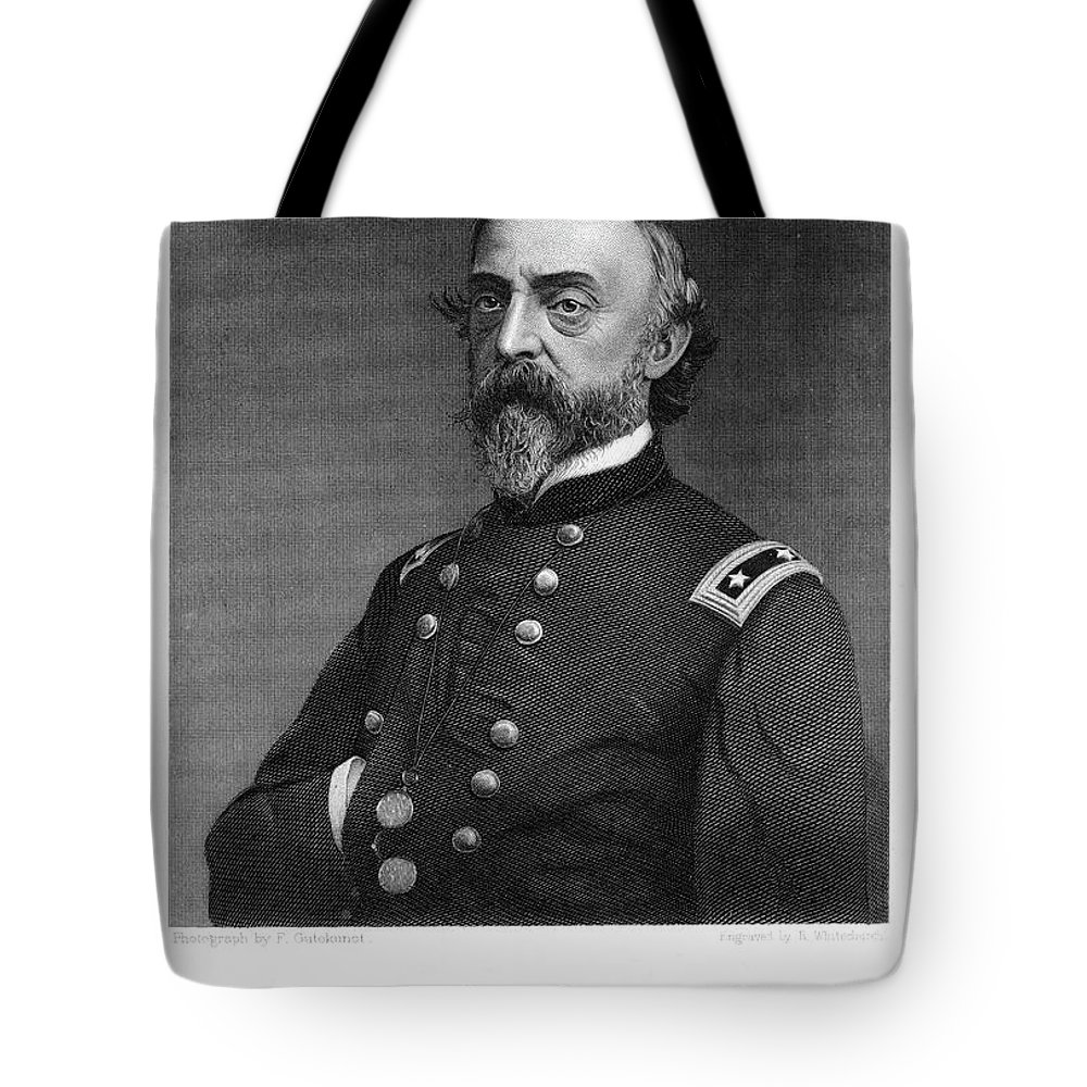 Vertical Tote Bag featuring the painting 1800s 1860s Portrait Union Army General by Vintage Images