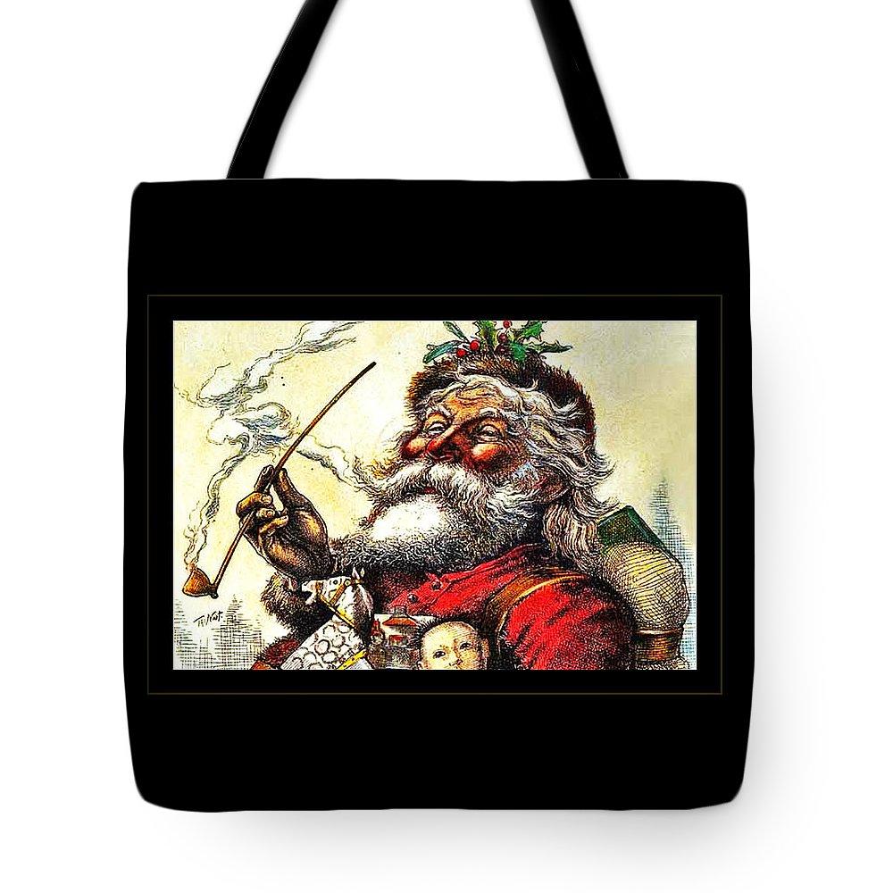 Santa Tote Bag featuring the photograph 1881 Santa by John Stephens