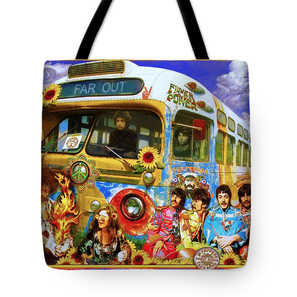 1967 Tote Bag featuring the photograph 19 Sixty 7 by John Anderson