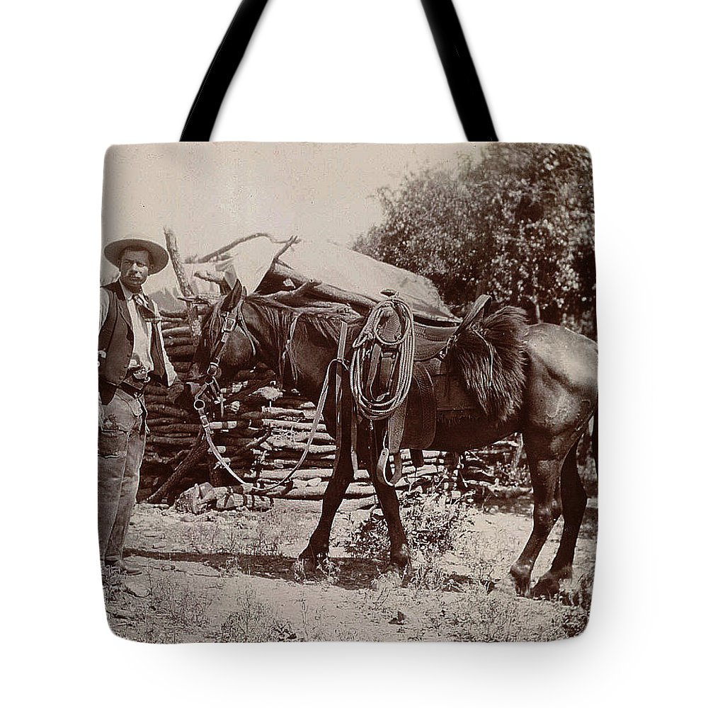 1900 Cowboy Tote Bag featuring the digital art 1900 Cowboy by Unknown