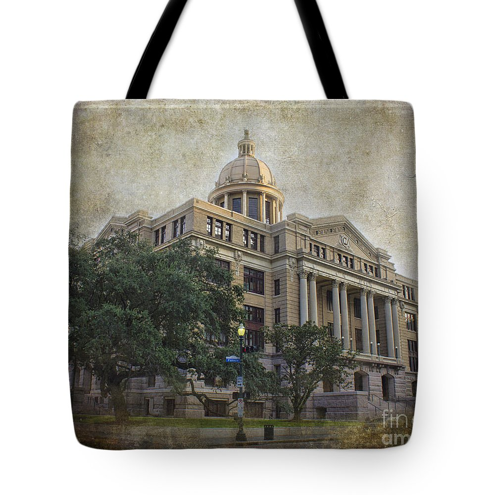 Building Tote Bag featuring the photograph 1910 Harris County Courthouse by TN Fairey
