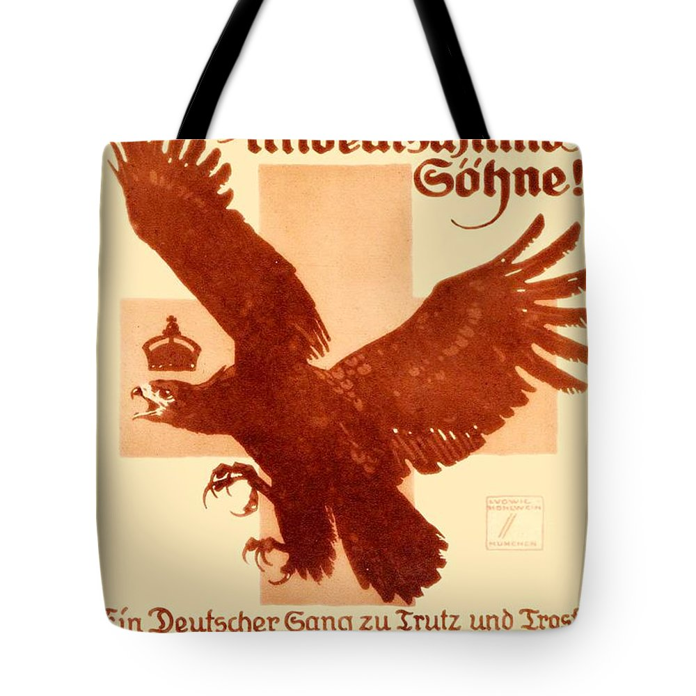1916 Tote Bag featuring the digital art 1916 - Lugwig Hohlwein German Musical Poster by John Madison