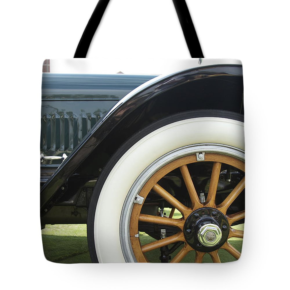Antique Tote Bag featuring the photograph 1917 Winton by Jack R Perry