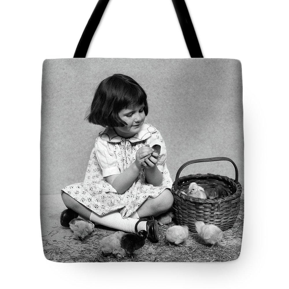 Photography Tote Bag featuring the photograph 1920s 1930s Smiling Girl Bobbed Hair by Animal Images