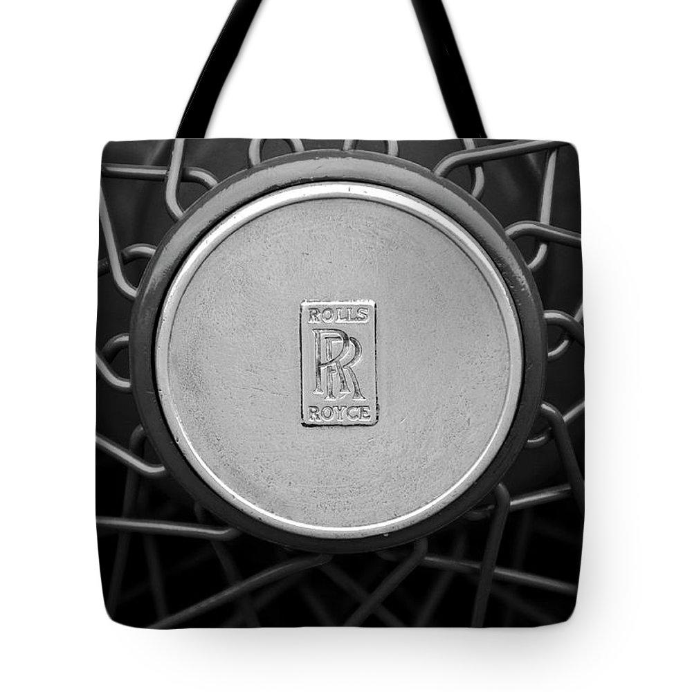1928 Rolls-royce Tote Bag featuring the photograph 1928 Rolls-royce Spoke Wheel by Jill Reger