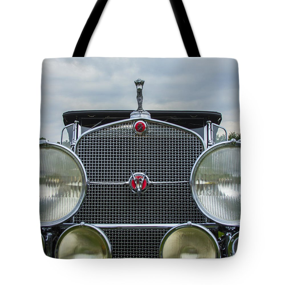 Antique Tote Bag featuring the photograph 1930 Cadillac V-16 by Jack R Perry