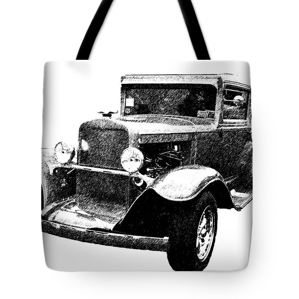 Automobile Tote Bag featuring the photograph 1930 Chevy by Guy Whiteley